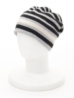 配色ボーダー ニット帽(オリジナルバッグ付)