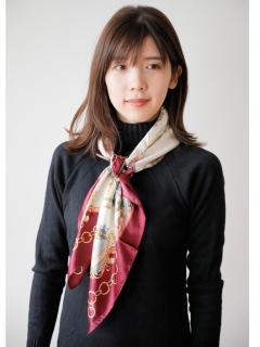 プリントスカーフ (オリジナルバッグ付)