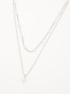 プチパール調2連ネックレス(オリジナル巾着付)
