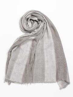 綿ストライプ 3色織りストール(オリジナルバッグ付)