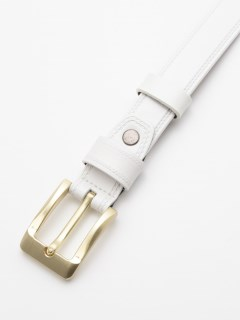 艶消しゴールドバックル レザーベルト(長さ調整器具付き)
