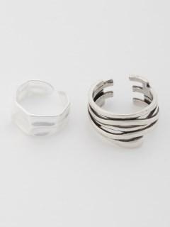デザインリング 2個セット サイズ調整可(オリジナル巾着付)