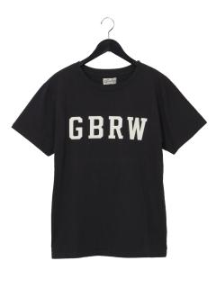 製品染め半袖ロゴTシャツ