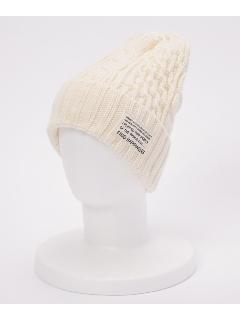 ケーブルWニット帽