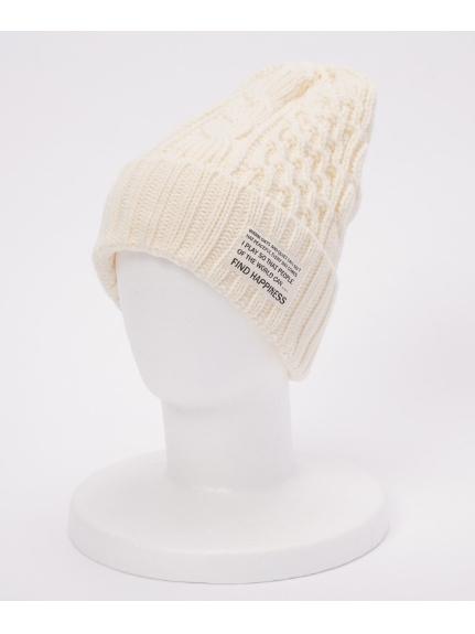 OCEAN (オーシャン) ケーブルWニット帽 WHITE