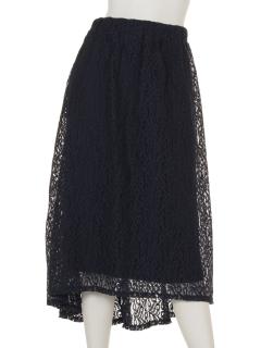 ラウンドヘムレーススカート