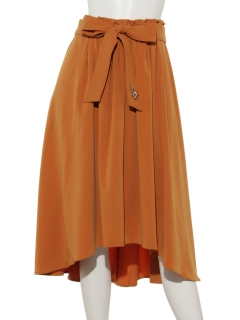 リボンベルト付ドレープスカート
