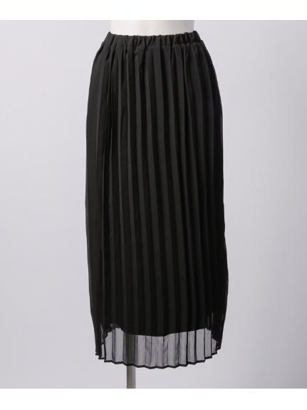 MAX PAJARITO (パハリート) シフォンプリーツスカート ブラック