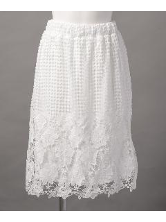 パネルレースギャザースカート
