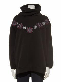 スノー刺繍シャギーオフタートルチュニック