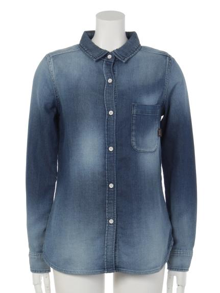 YANUK (ヤヌーク) DENITSTANDARDシャツ ブルー