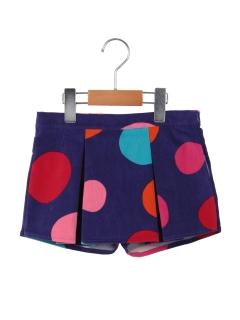 ドットのスカート風パンツ