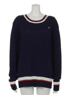 スポーティラインクルーネックセーター