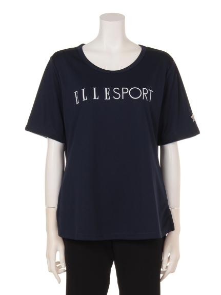 ELLE SPORTS (エルスポーツ) フロントロゴTシャツ BL5