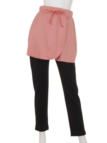 ELLE SPORTS (エルスポーツ) スカート付きパンツ ピンク
