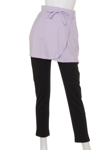 ELLE SPORTS (エルスポーツ) スカート付きパンツ ラベンダー
