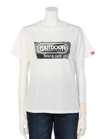 OUTDOOR PRODUCTS (アウトドアプロダクツ) 迷彩プリントTシャツ ホワイト
