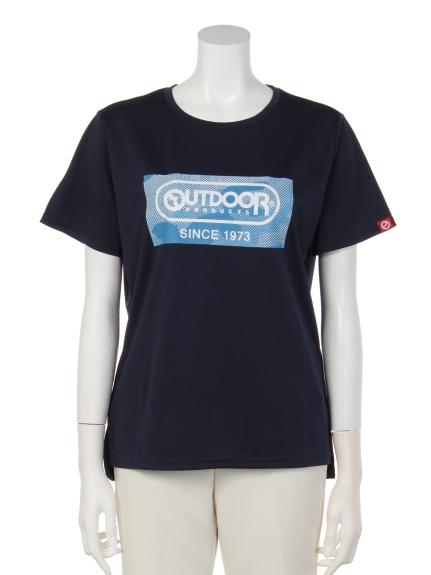 OUTDOOR PRODUCTS (アウトドアプロダクツ) 迷彩プリントTシャツ ネイビー