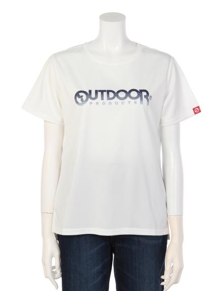 OUTDOOR PRODUCTS (アウトドアプロダクツ) グラデーションプリントTシャツ オフホワイト