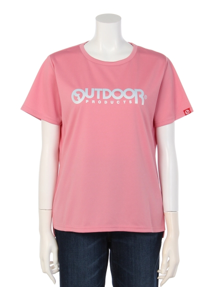OUTDOOR PRODUCTS (アウトドアプロダクツ) グラデーションプリントTシャツ ピンク