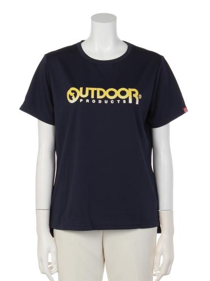 OUTDOOR PRODUCTS (アウトドアプロダクツ) グラデーションプリントTシャツ ネイビー