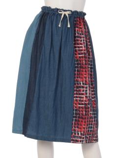 シャンブレークレイジースカート