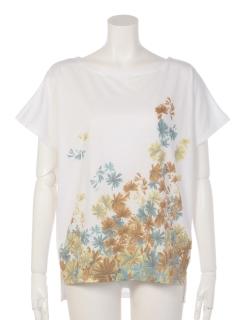 花吹雪柄 ドルマンTシャツ