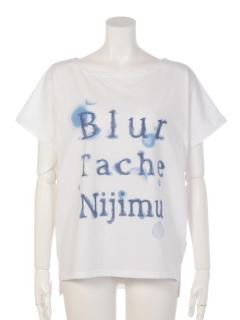 水彩ロゴ柄ドルマンTシャツ