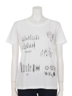 ルアープリントコットンTシャツ