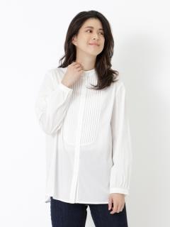 ピンタックストレッチシャツ