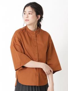 【LOHA DEUX】ペーパーヤーンバンドカラードルマンシャツ