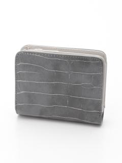型押しミニ財布