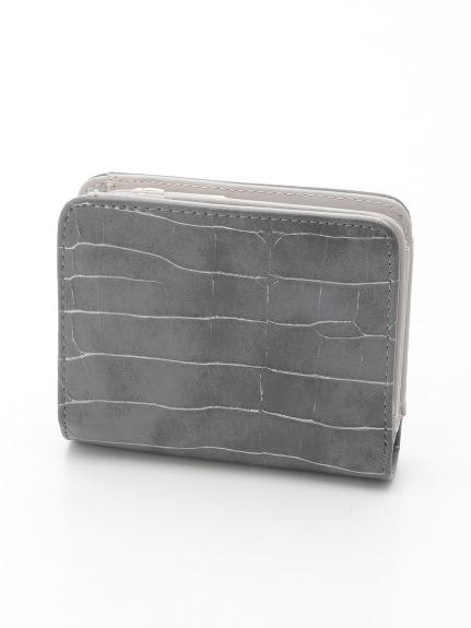 CURI BISCUI (キュリビスキュイ) 型押しミニ財布 グレー