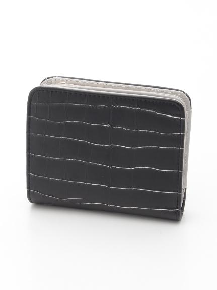 CURI BISCUI (キュリビスキュイ) 型押しミニ財布 ブラック