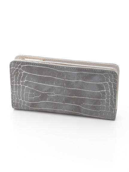 CURI BISCUI (キュリビスキュイ) 型押し長財布 グレー