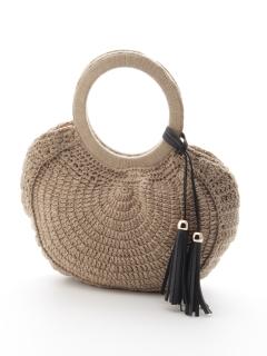 ニット素材サークル型バッグ
