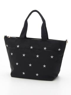 星刺繍ナイロントート Lサイズ