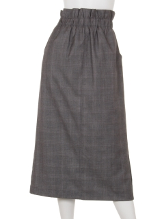 グレンチェックロングタイトスカート