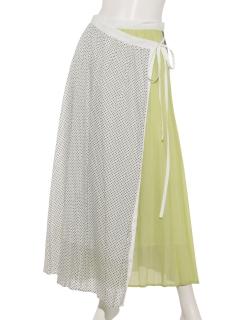 巻きプリーツスカート