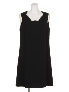 スカラップカットドレス