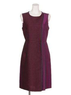 ジャカードプリーツデザインドレス