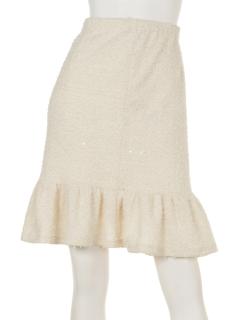 スパンコールシャギースカート