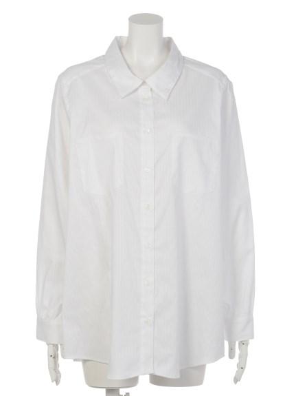 VARAL DE MODA+ (バラルデモーダプラス) カシュクール2WAYシャツ オフホワイト