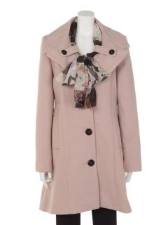 スカーフ付Coat