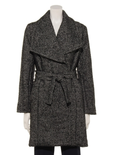 ビッグ襟ツイードコート