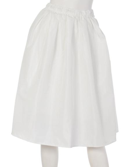 Roomy s (ルーミーズ) ボリュームメモリースカート ホワイト