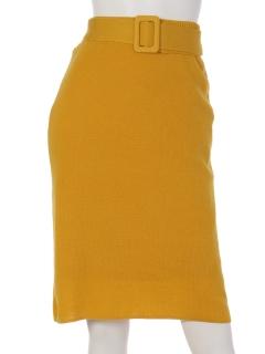 ベルト付き2wayニットタイトスカート