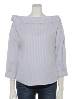 サイド襟変形シャツ