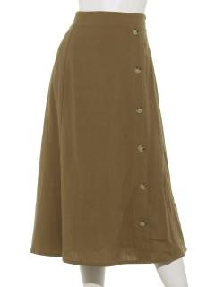 リネンタッチボタンスカート