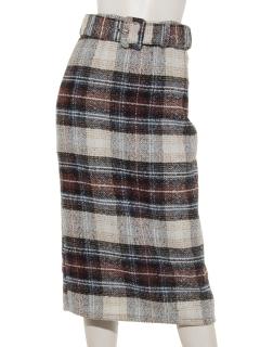 チェックツィードタイトスカート